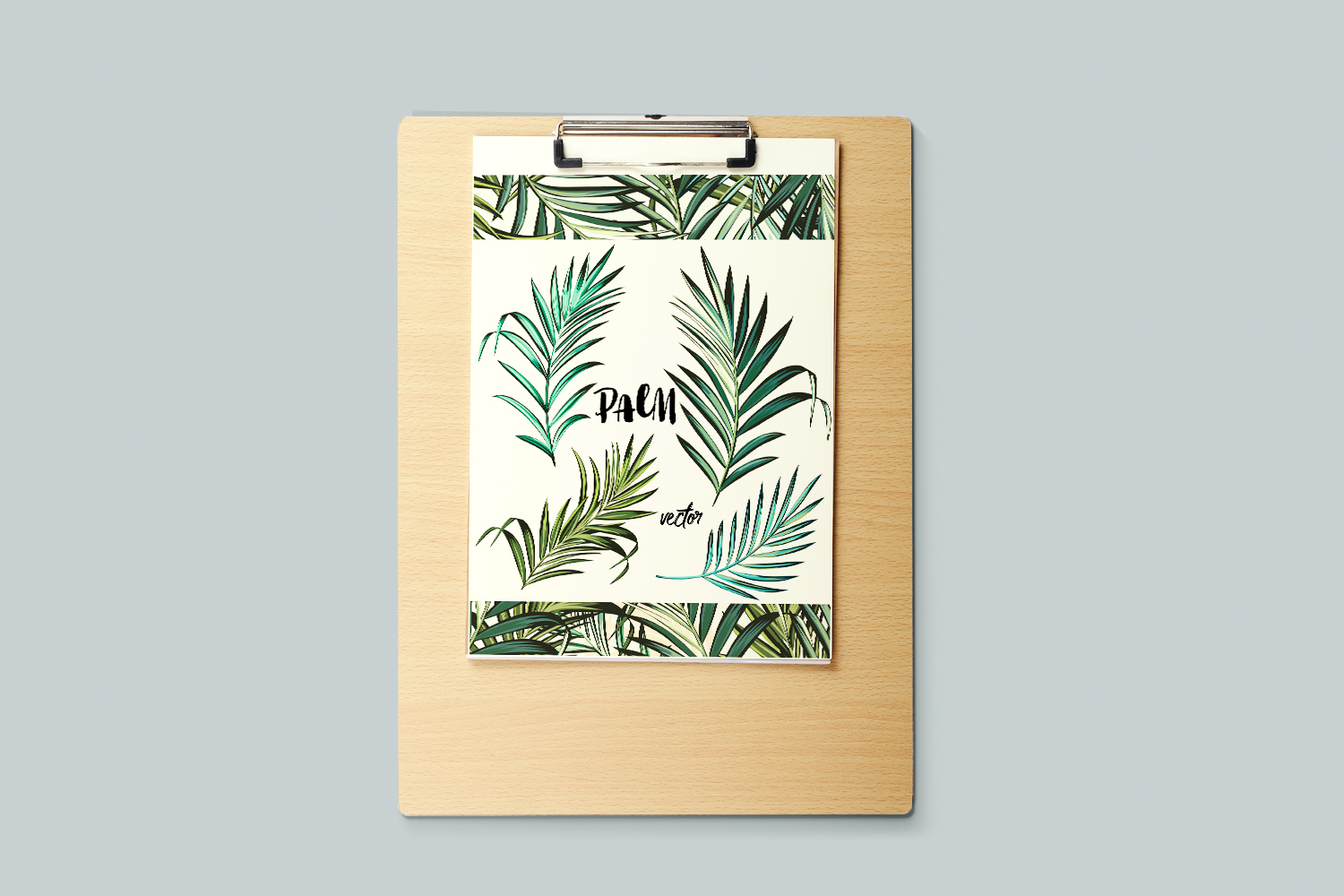Palm leafs. Vector ClipArt set example image 4