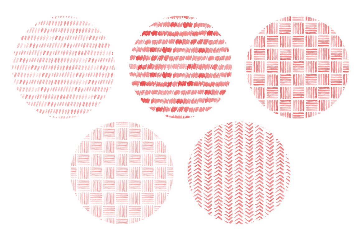 20 Seamless Watercolor Patterns Red example image 4