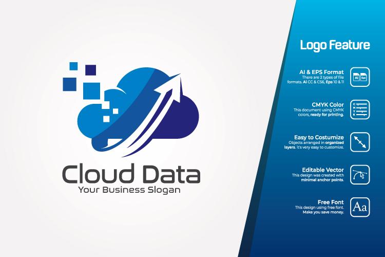 Cloud Data Logo Template example image 1