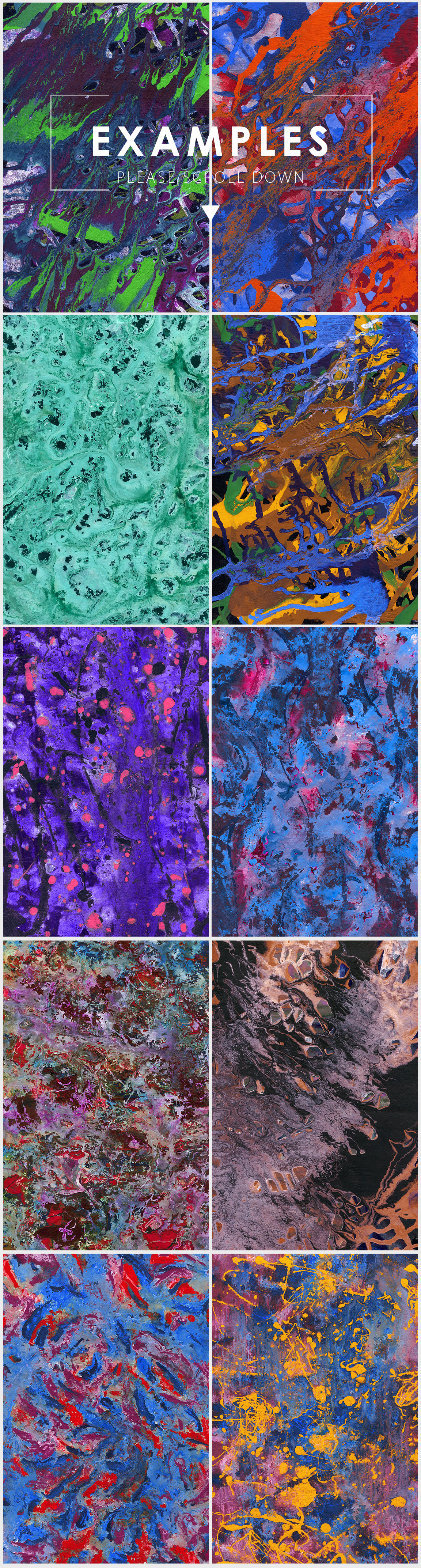Abstract Paint Backgrounds Vol.3 example image 5