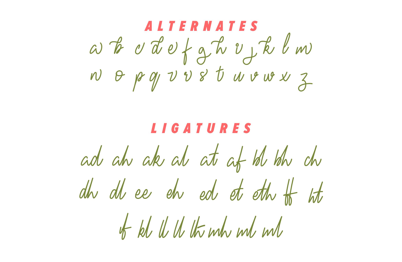 Fresh Berries - Script & Sans Font example image 8