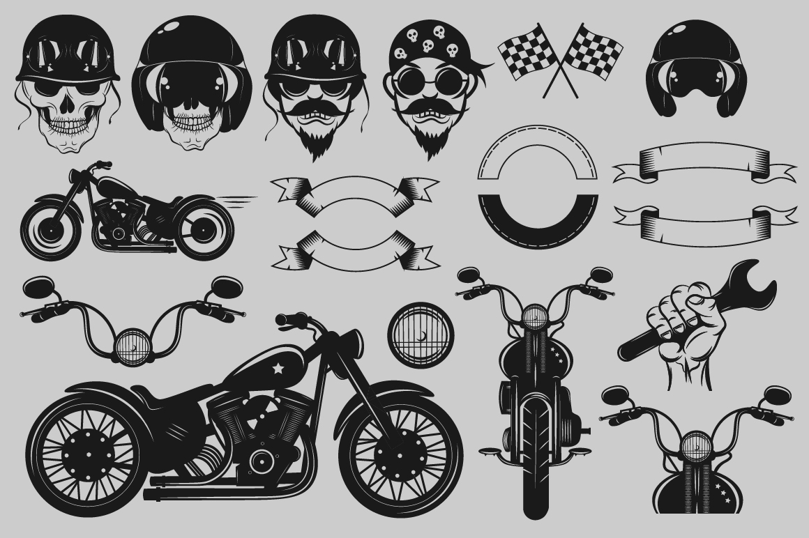 Bikers Logo Bundle example image 3