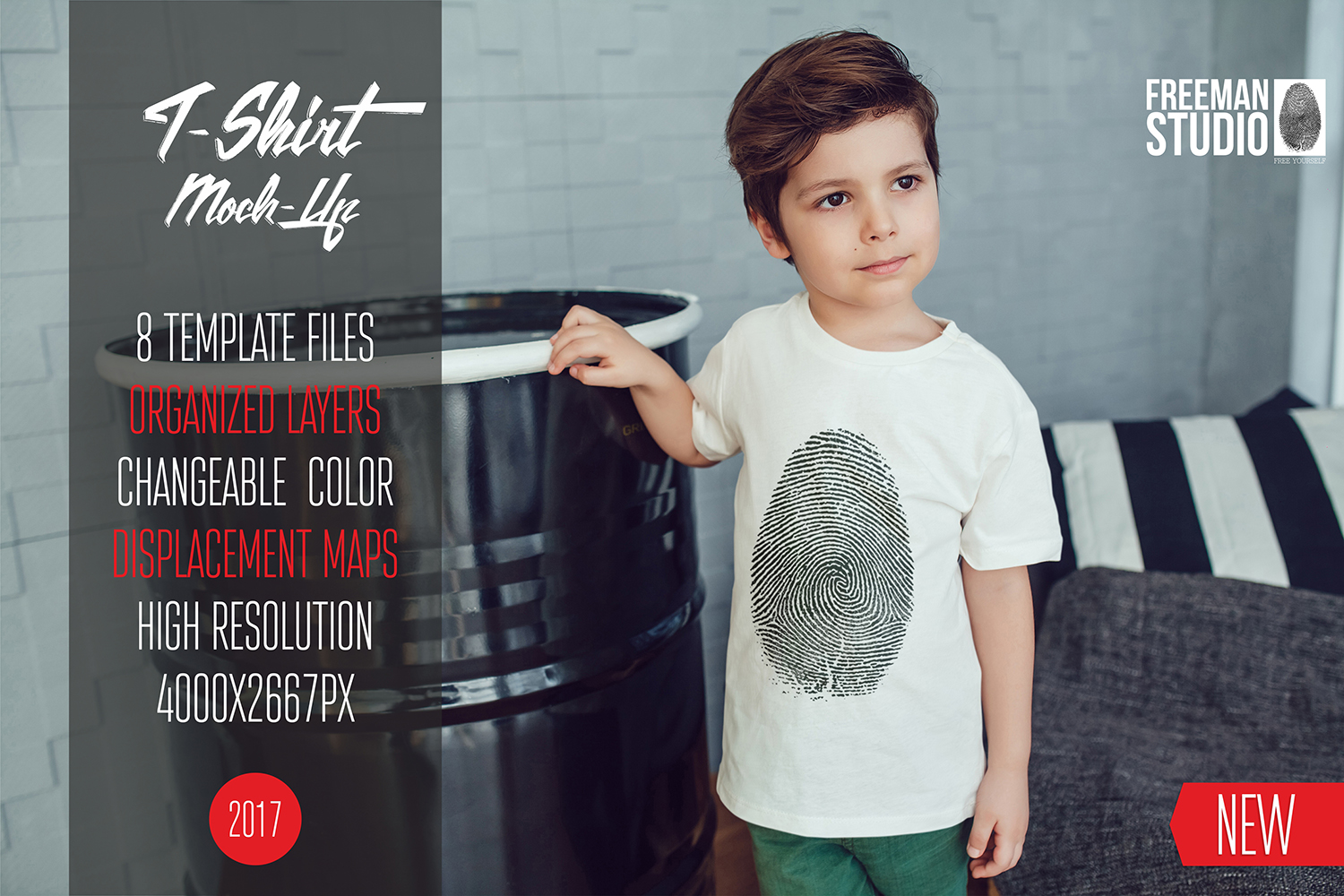 Kids T-Shirt Mock-Up Vol.2 2017 example image 1