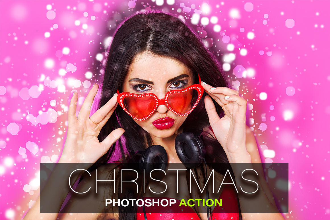 Christmas Photoshop Action example image 1