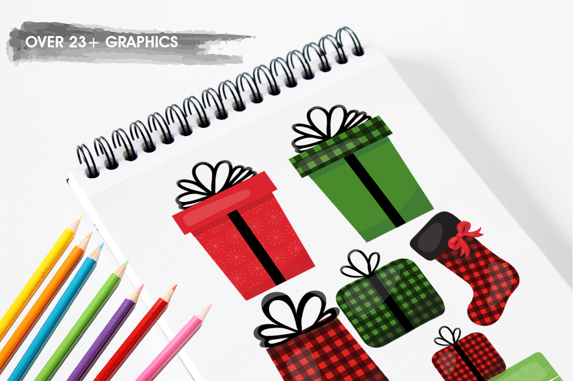 Christmas Gift graphic and illustrations example image 5