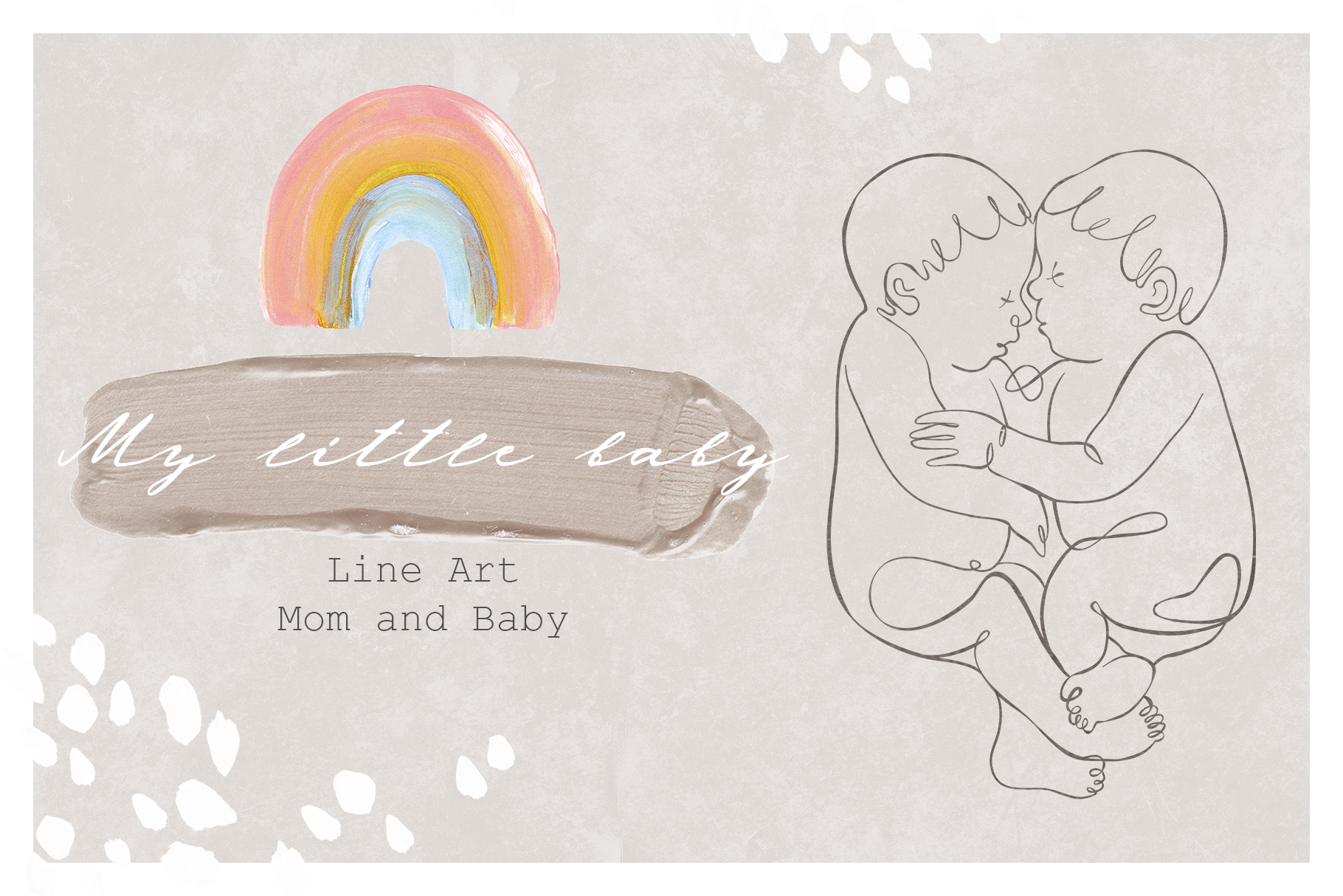 MY LITTLE BABY oneline illustrations example image 1