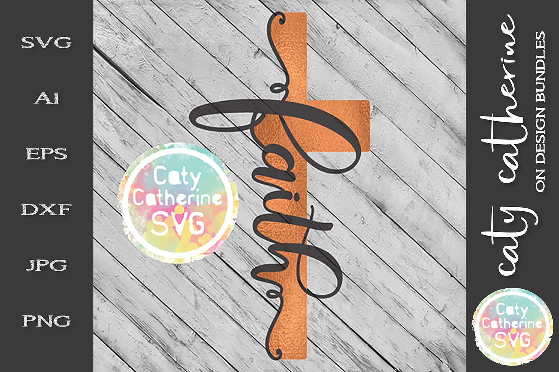 Faith Cross SVG Cut File example image 1