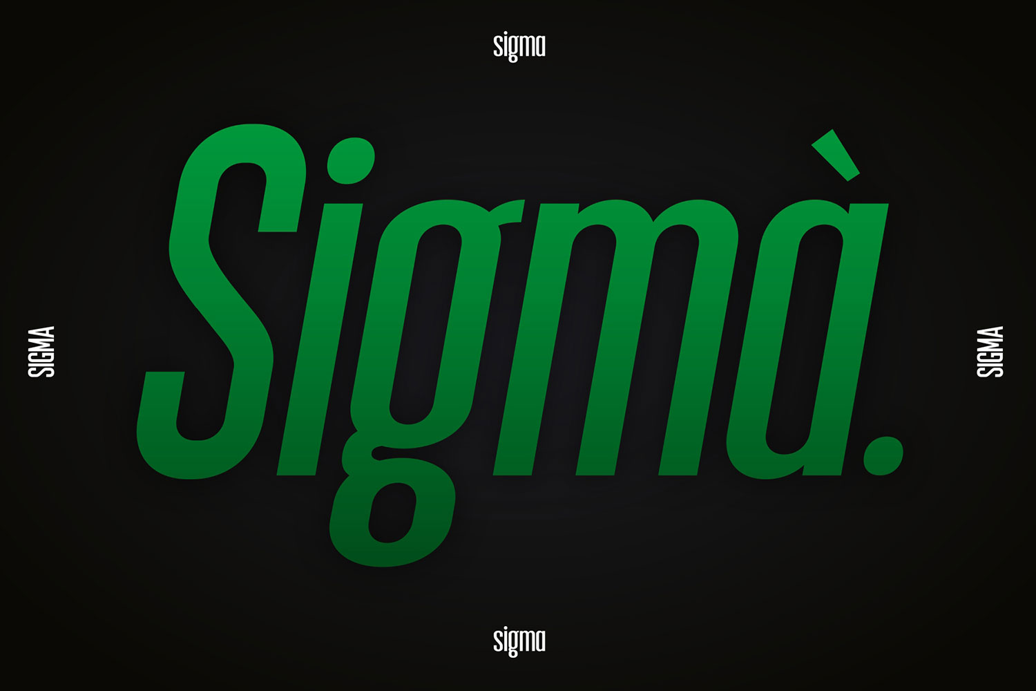 Sigma Display Font example image 2