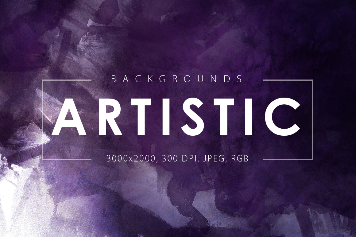 Only Watercolor Backgrounds Bundle example image 10