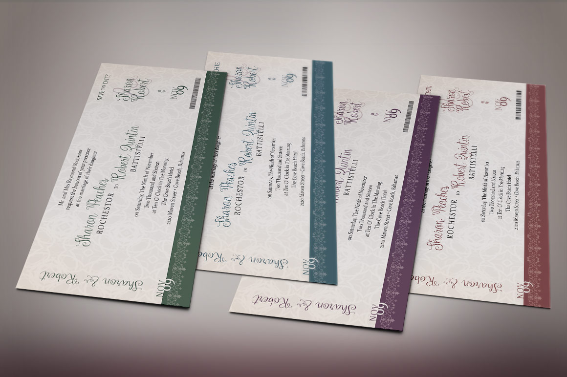 Vintage Boarding Pass Invitation Template example image 4