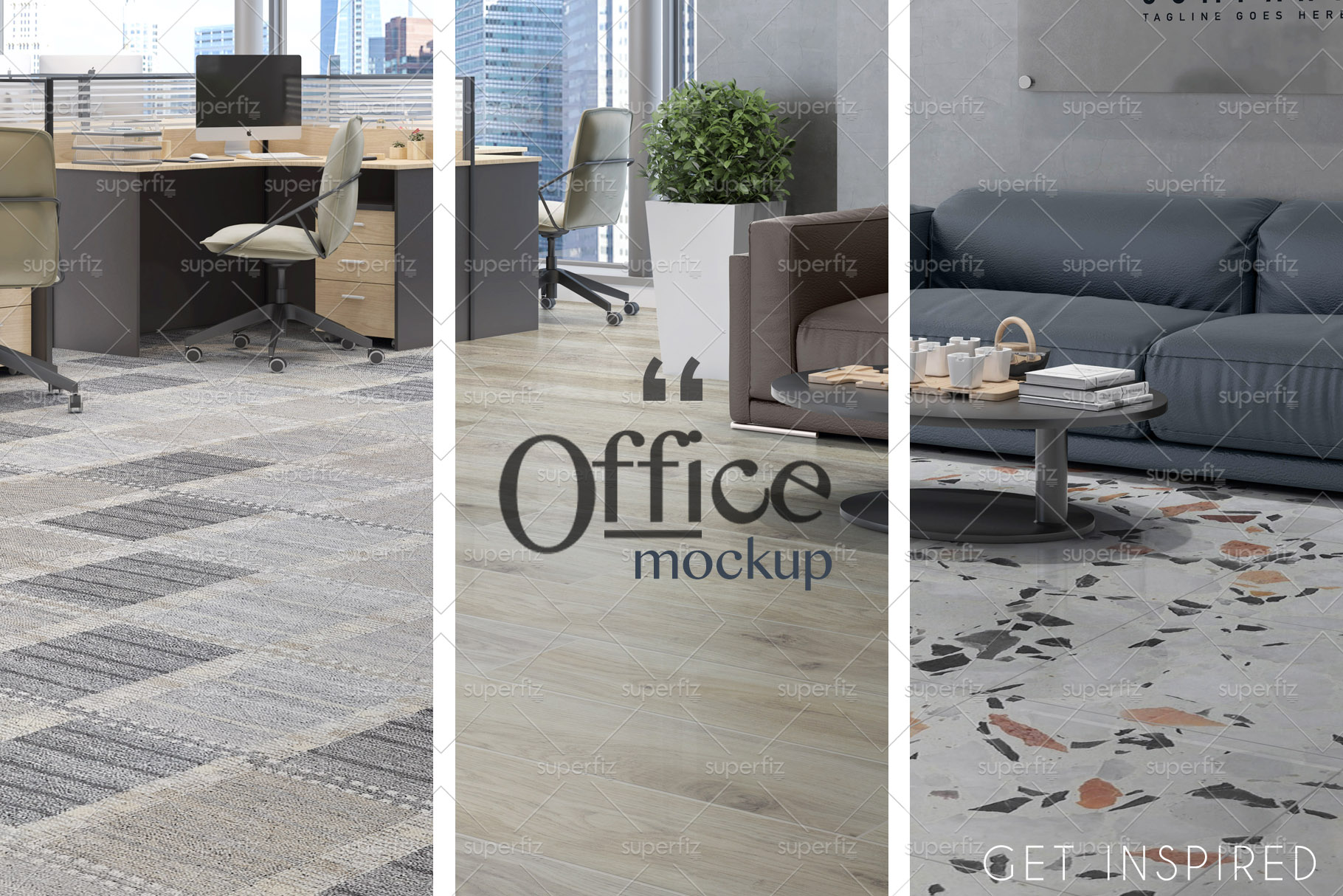Blank Floor Commercial PSD Mockup SM76 example image 4