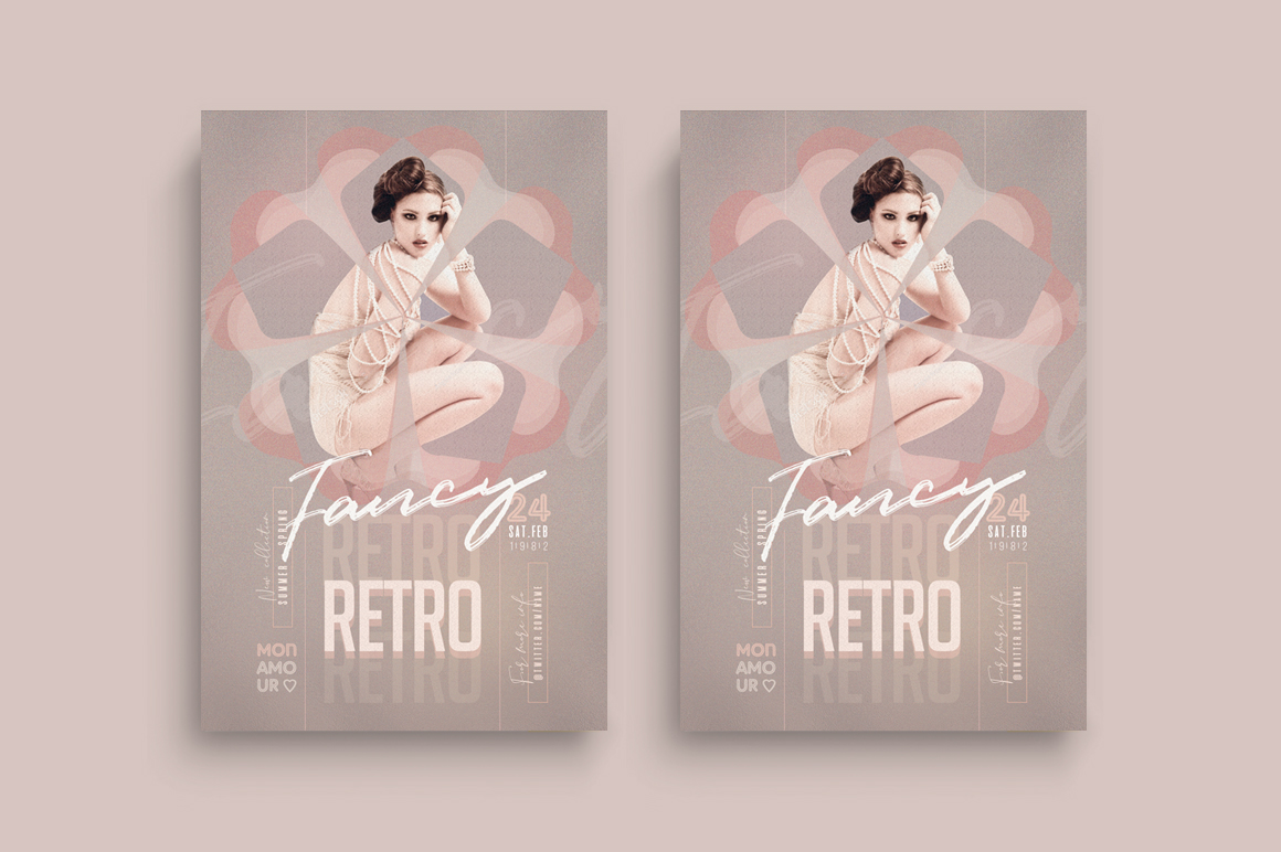Retro Fancy Flyer Template example image 1