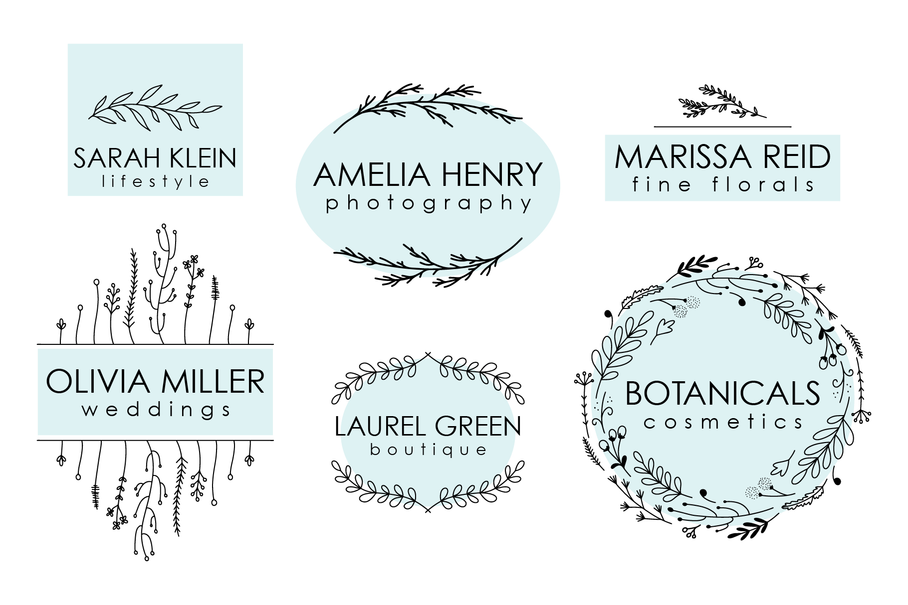 Botanicals, Vector Illustrations example image 2