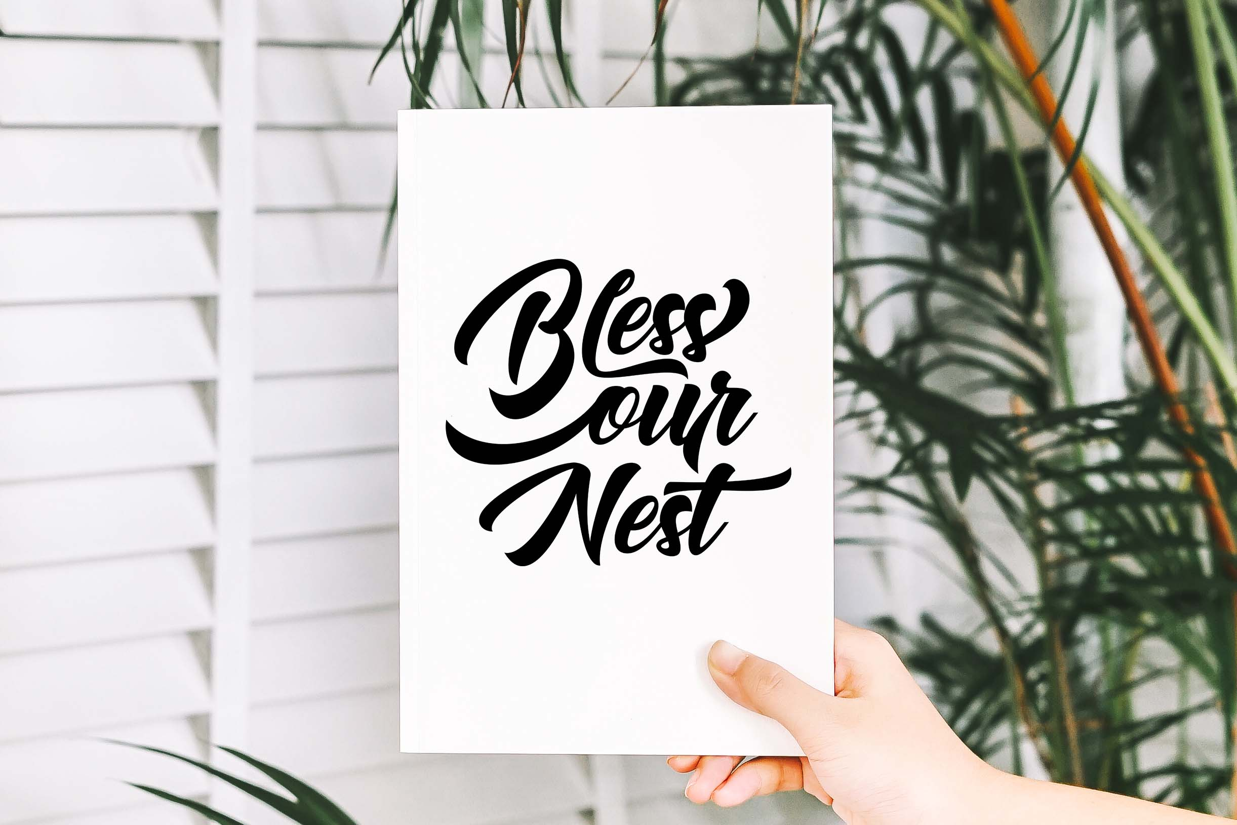 Bless our nest SVG DXF PNG EPS example image 2