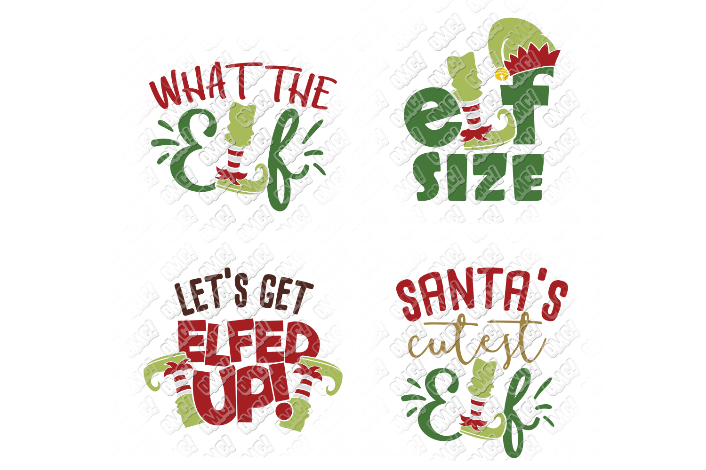 Elf SVG Bundle Monogram Quotes in SVG, DXF, PNG, EPS, JPEG example image 5