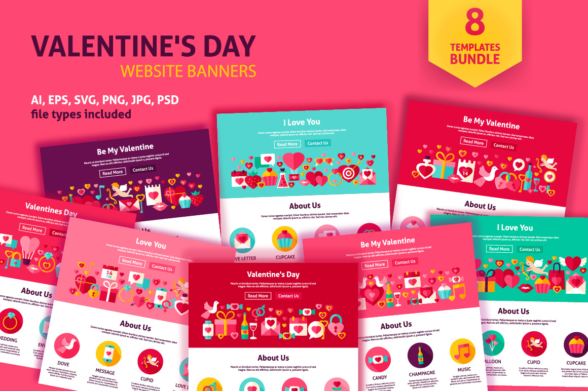 Valentine's Day Web Banners example image 1