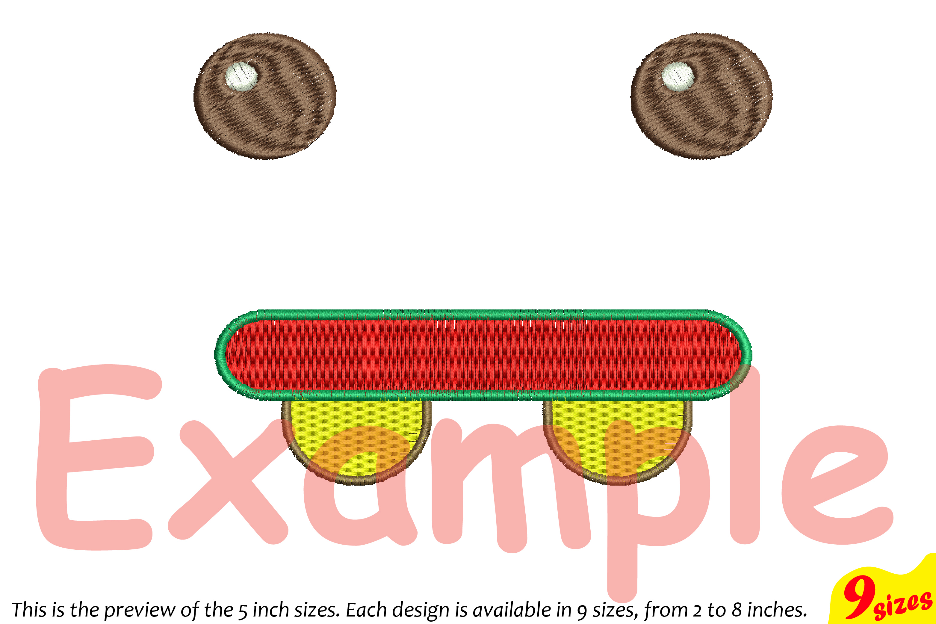 Cute Emoji Embroidery Design Machine Instant Download Commercial Use digital file icon symbol sign emoticons smile Kawaii Expression 185b example image 5