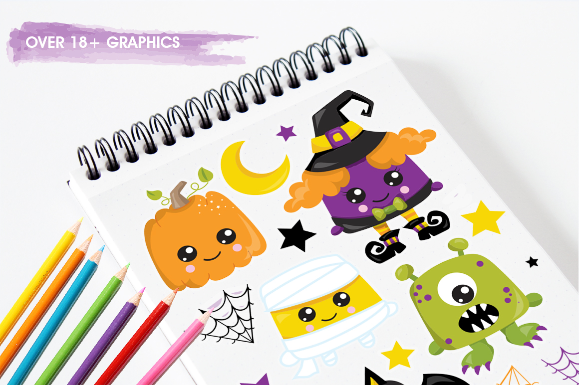 Halloween graphic and illustrations example image 5