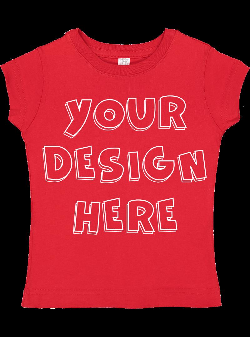 Toddler Gilrs Flat Jersey T Shirt Mockups - 17 example image 15