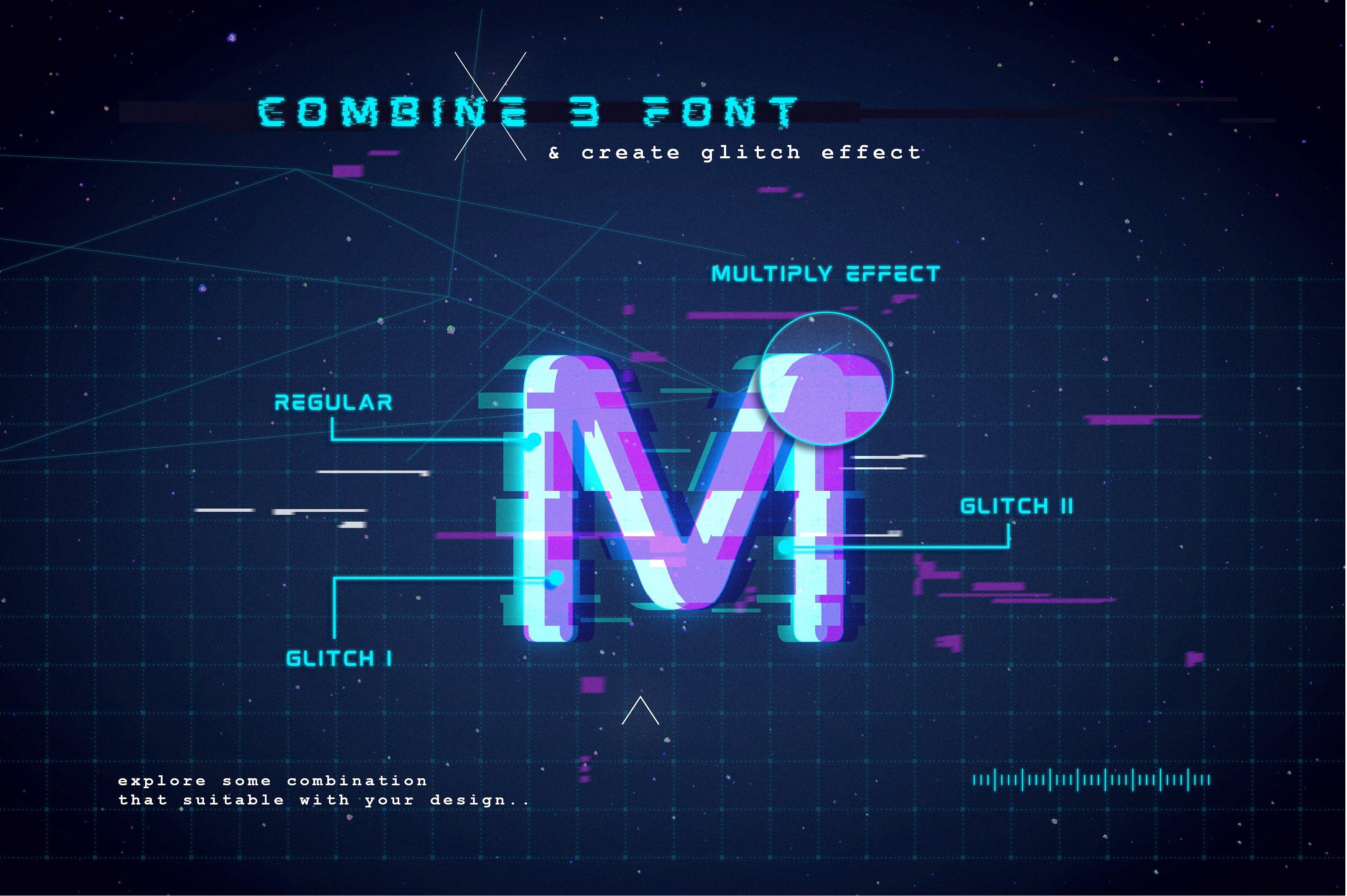 Mokoto Glitch Typeface example image 8