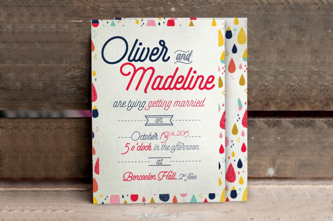 Fun Pattern Wedding Invitation example image 4