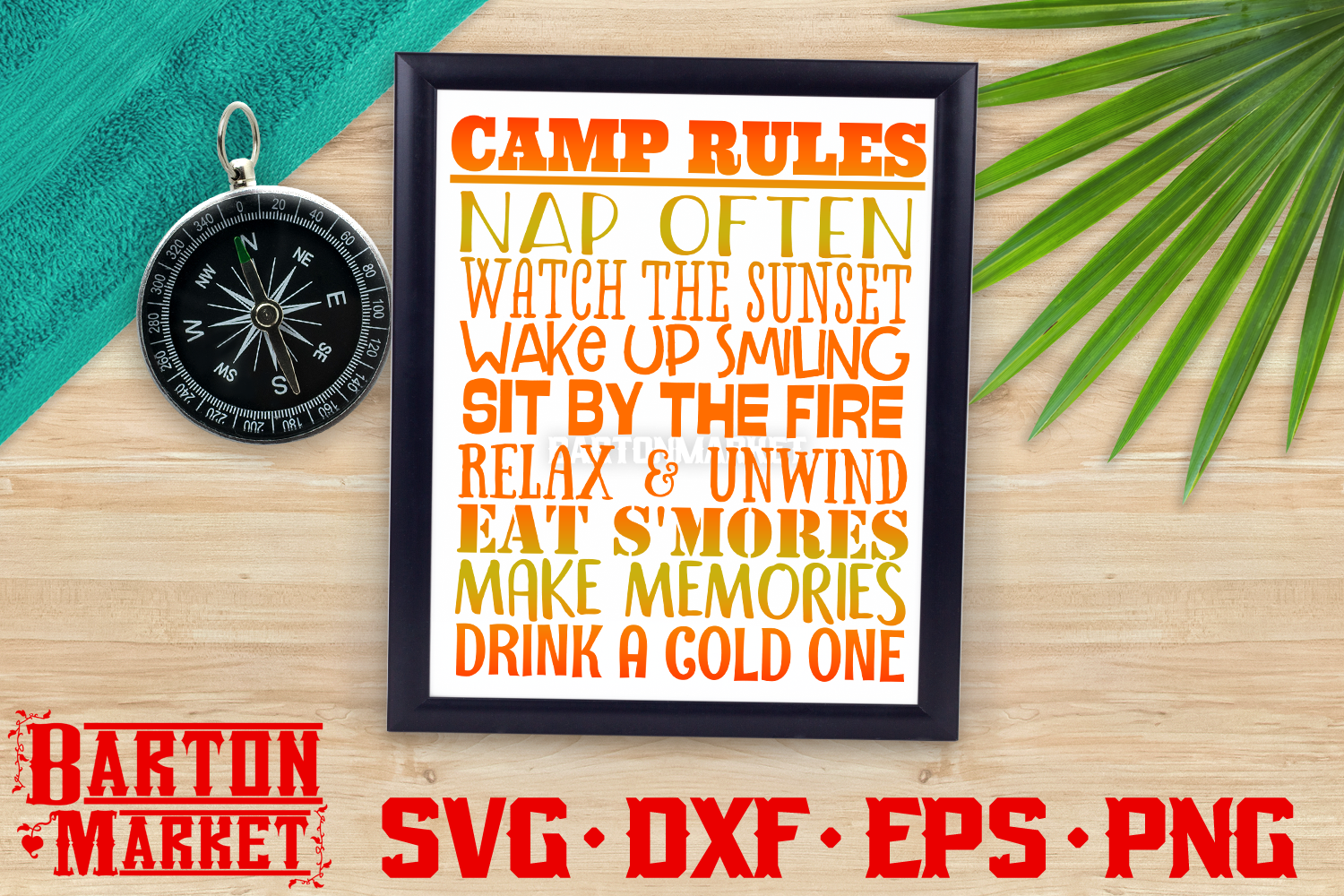 Camp Rules SVG DXF EPS PNG 1 example image 1