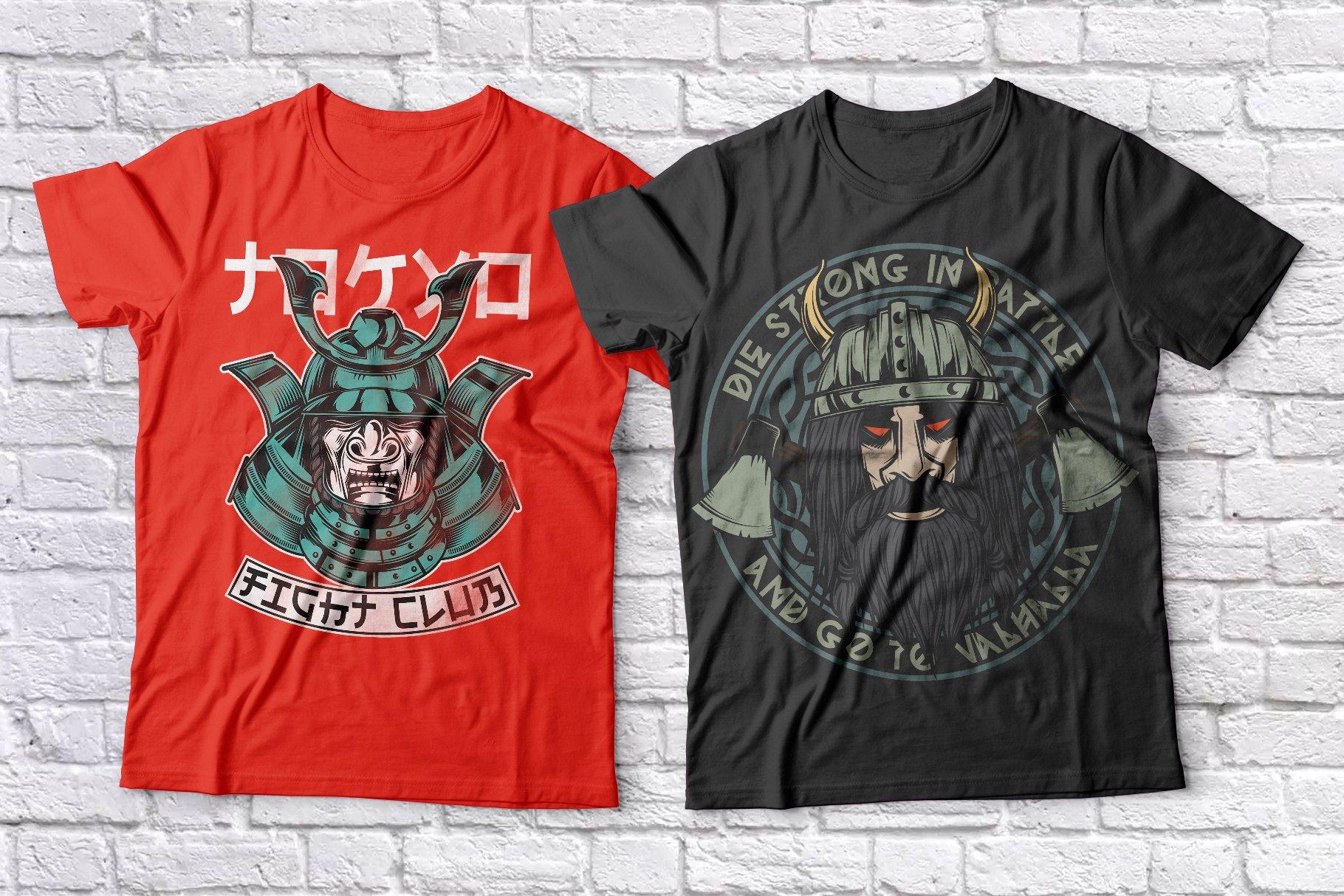 Warriors t-shirts set example image 3
