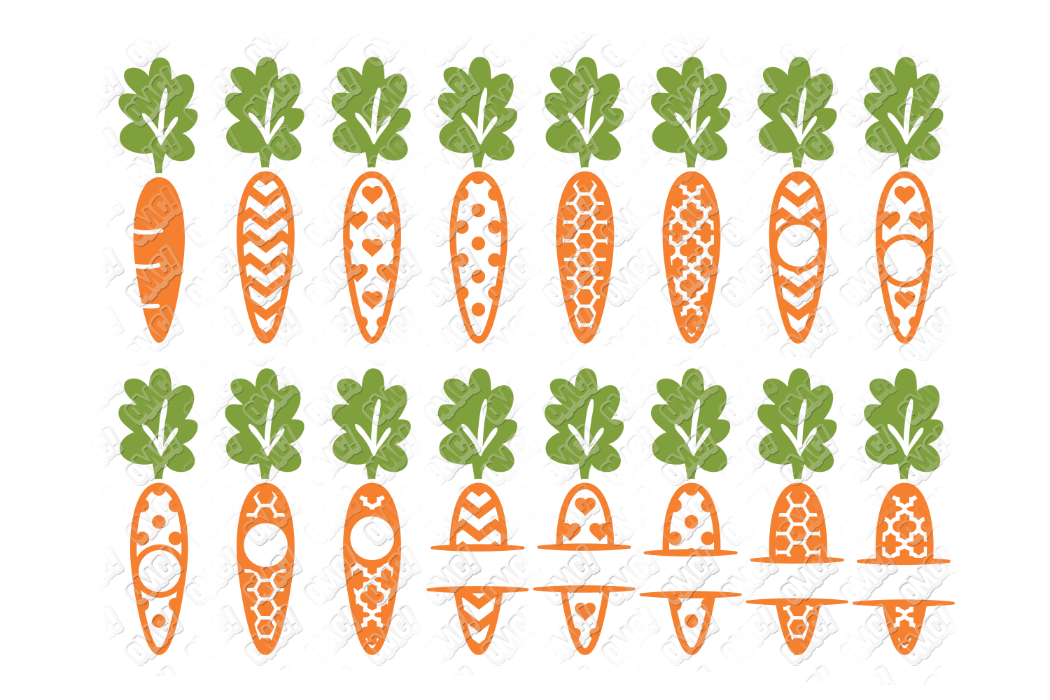 Carrot SVG Easter Monogram Quote in SVG, DXF, PNG, EPS, JPEG example image 4