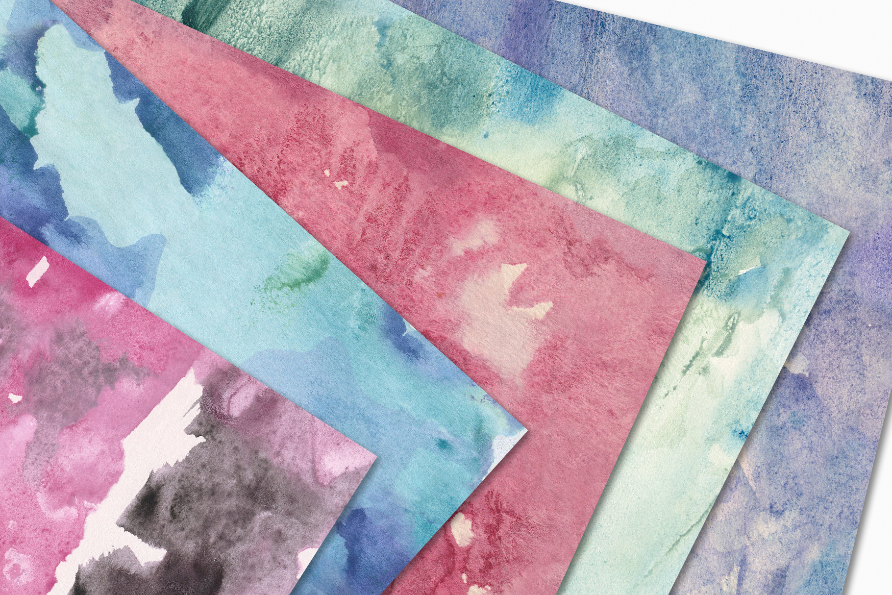 Seamless Watercolor Textures - 10 Watercolour Backgrounds example image 4