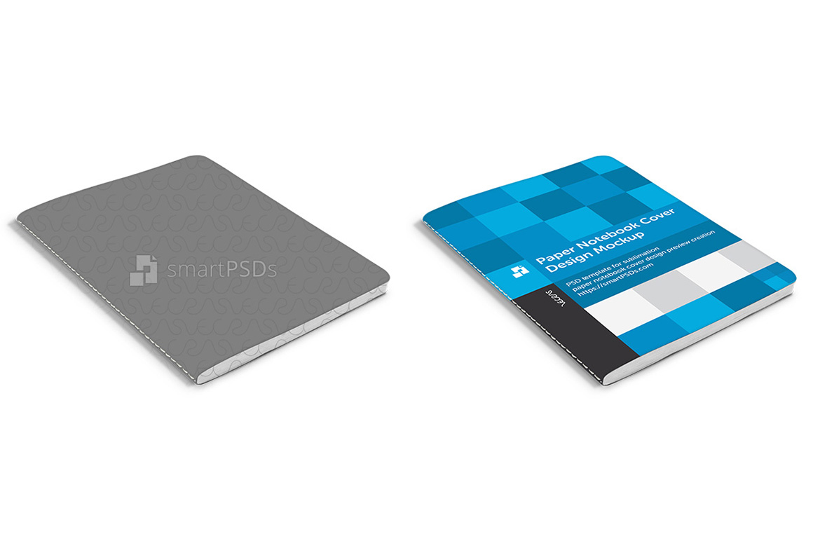 Paper Notebook Cover Design Mockup example image 5