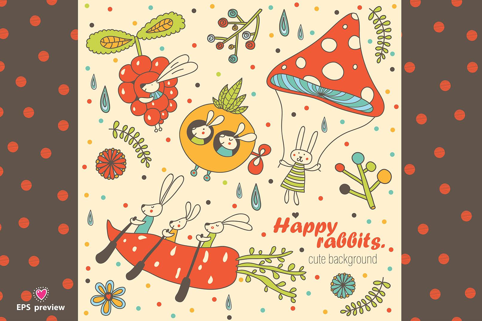 Happy rabbits! example image 6