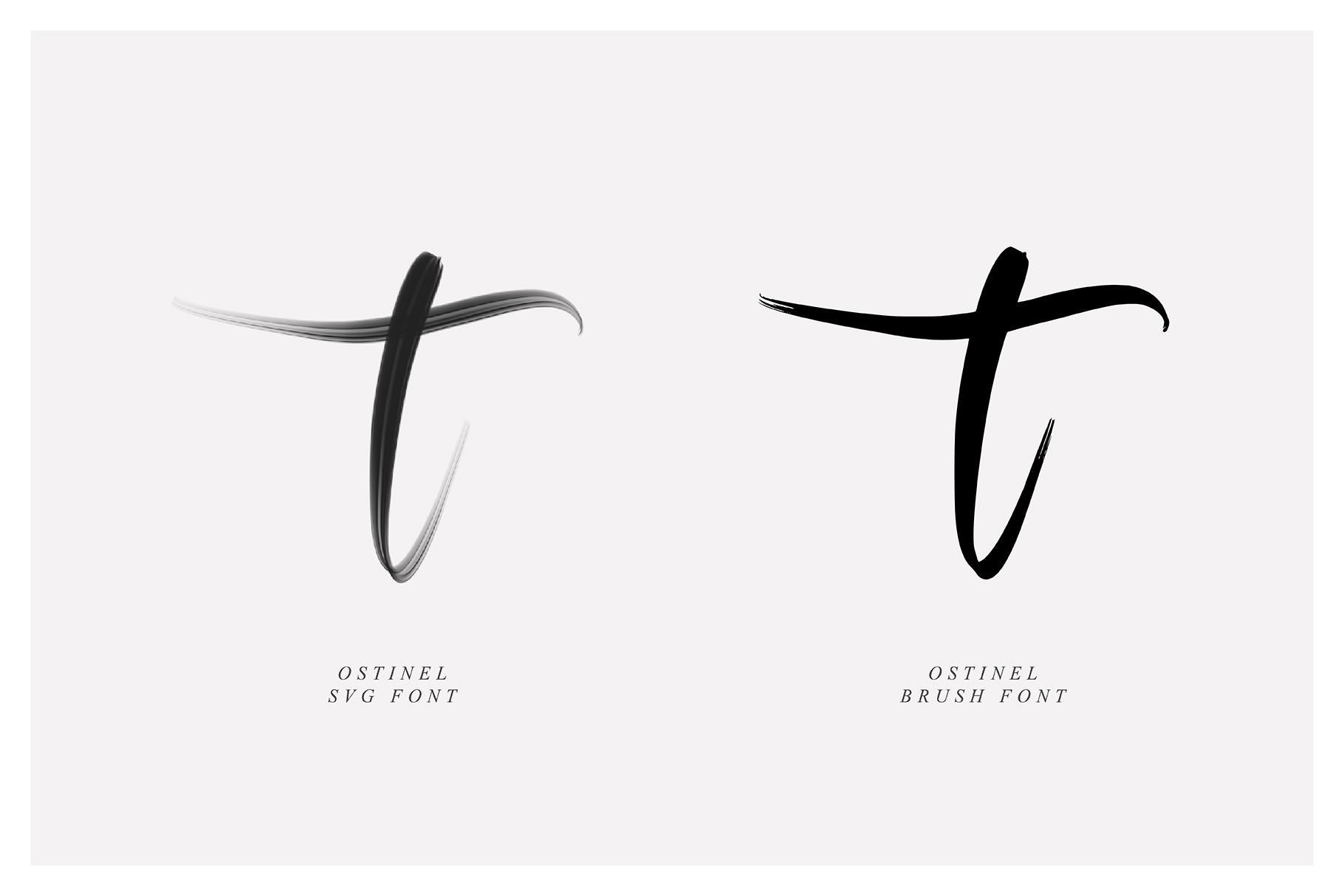 Ostinel SVG Font example image 4