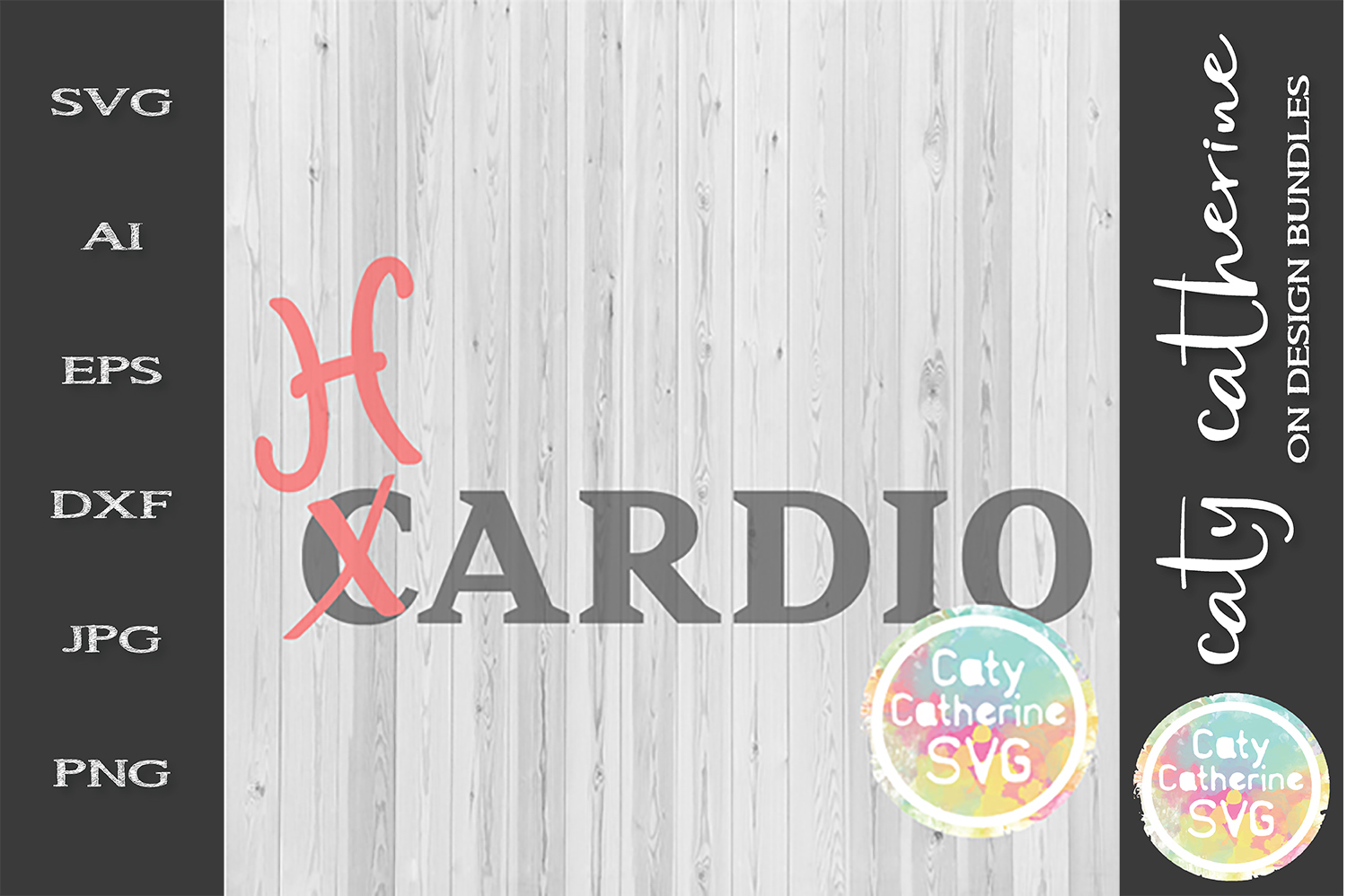 Cardio Hardio SVG Workout Fitness Gym Funny Tee Design example image 1