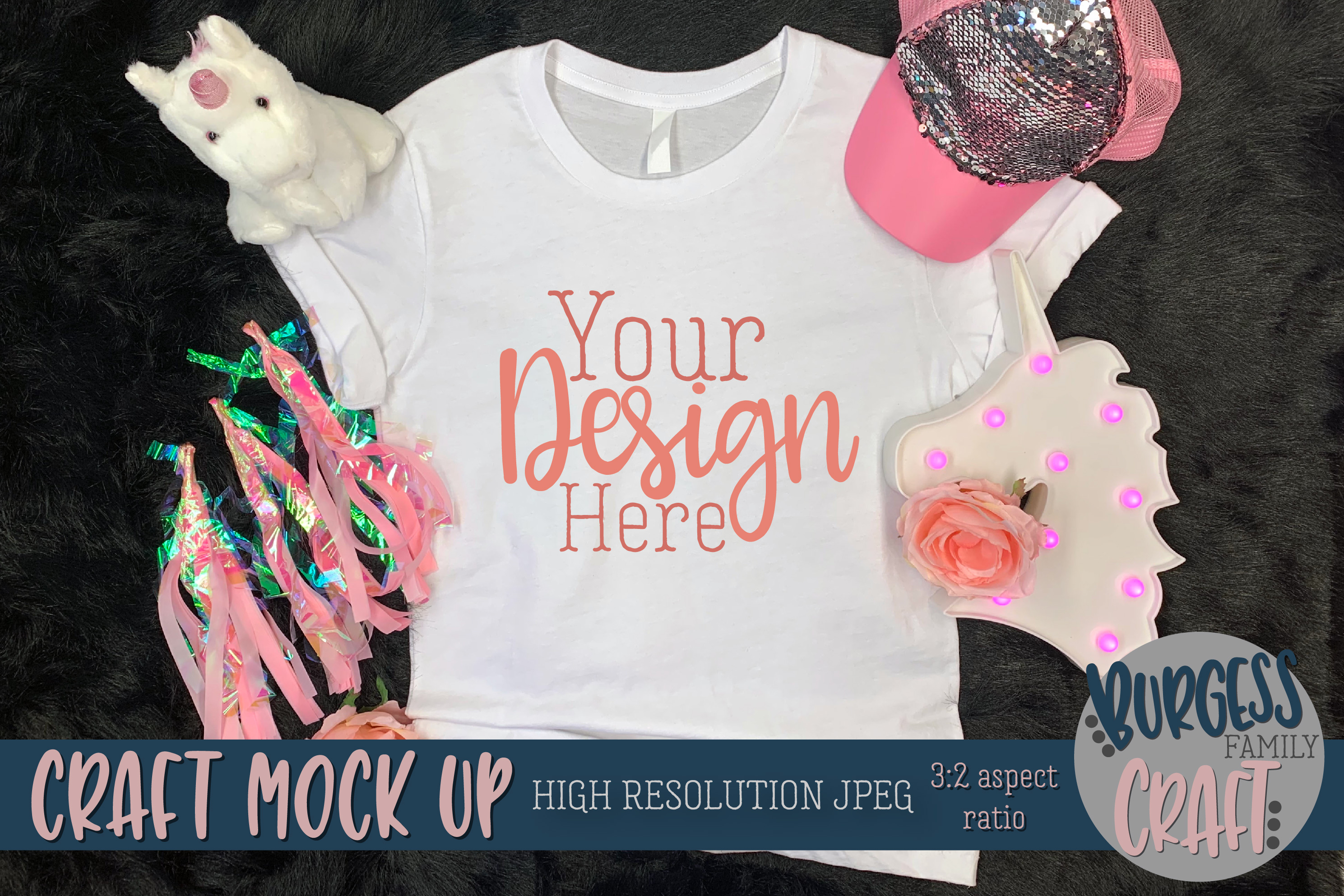 Pink explosion shirt Craft mock up | High Resolution JPEG example image 3