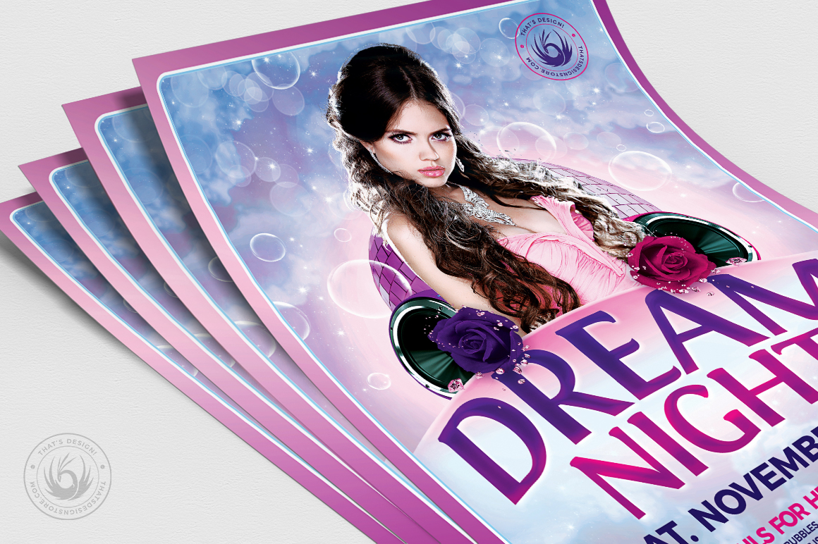 Dream Night Flyer Template example image 5