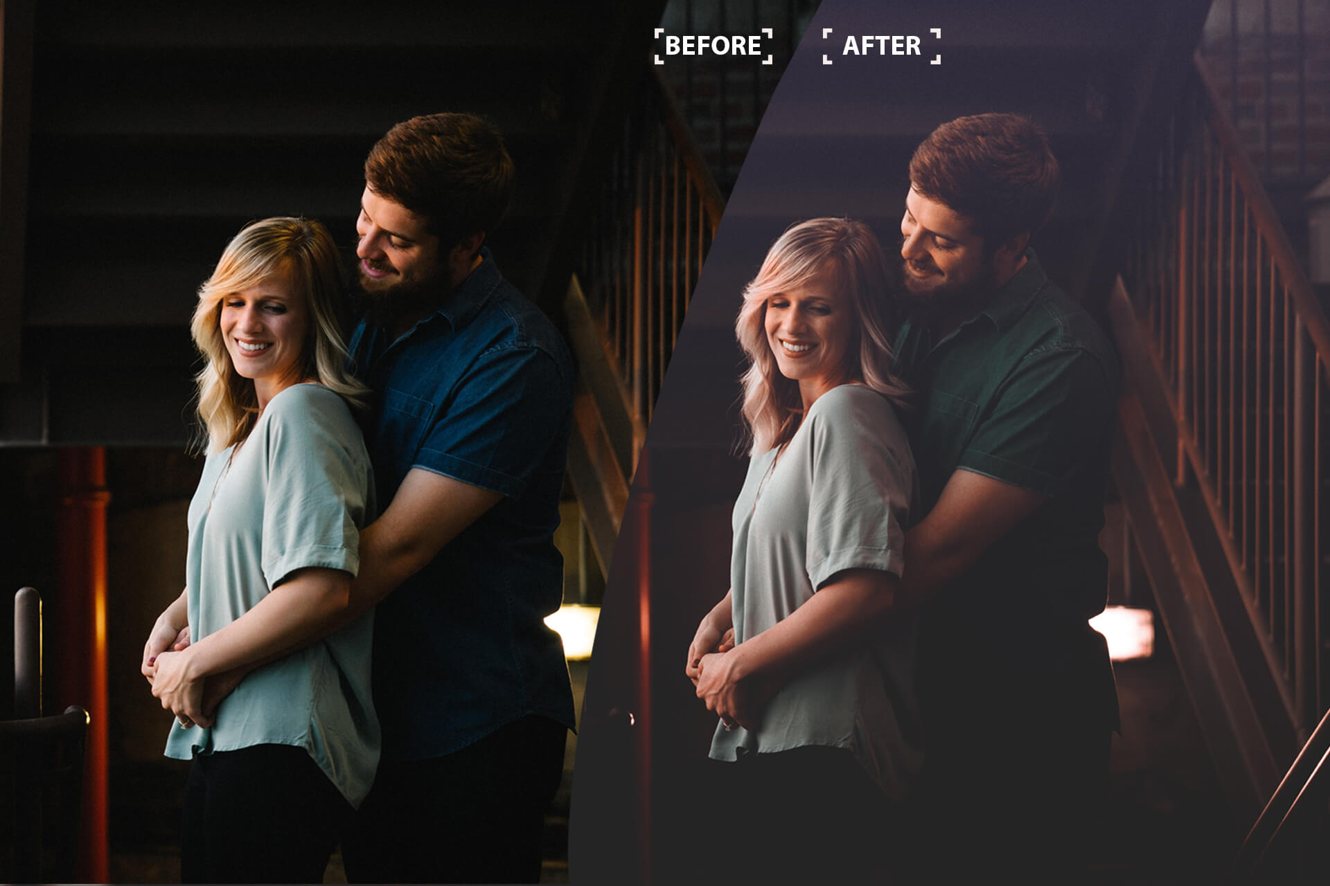 Cinematic Color Grading 01 Premium photoshop action example image 3