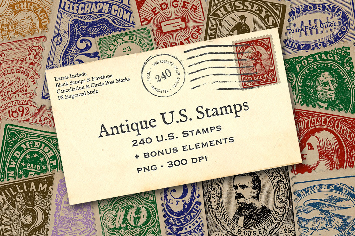 Antique US Stamp Graphics example image 1