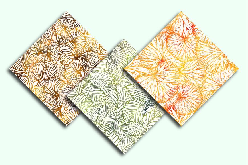 Herbal seamless patterns mini-set example image 2