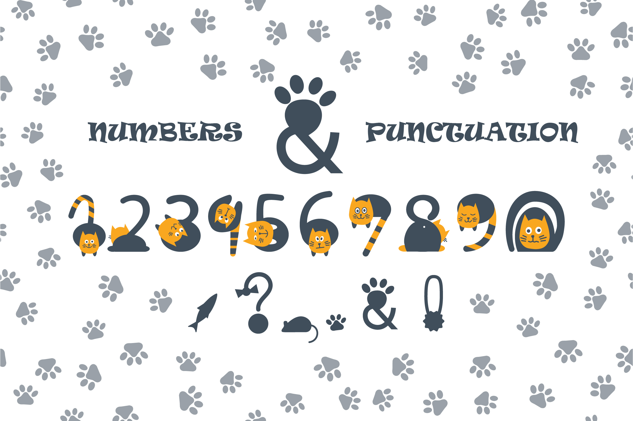 Cats cute OTF color font example image 2