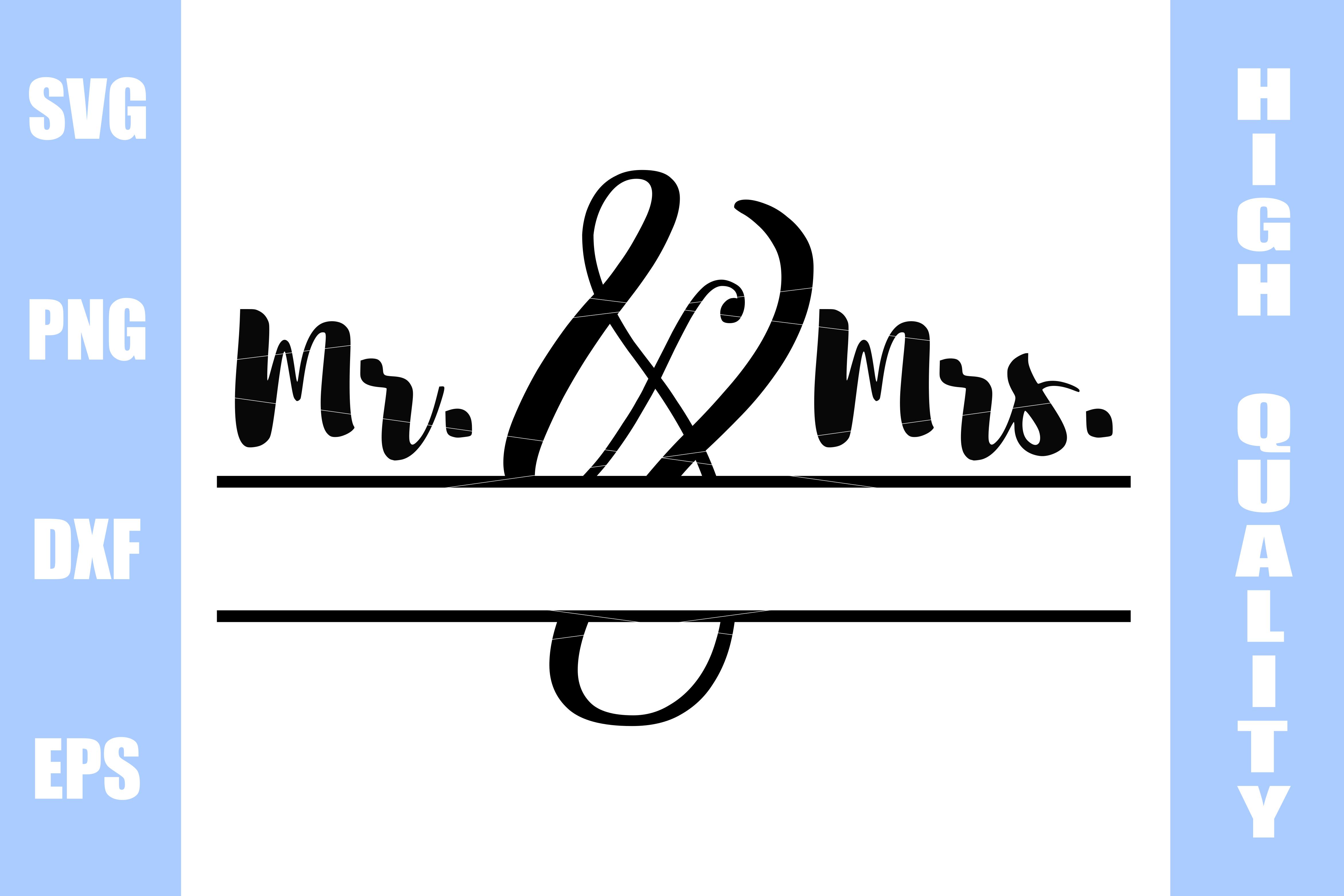 Mr. and Mrs. Monogram Frame Svg example image 1