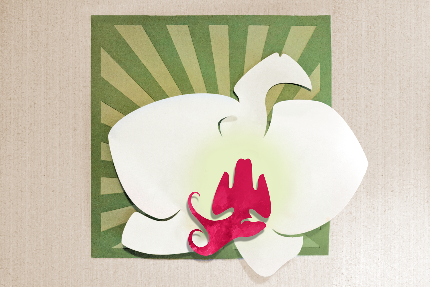 Orchid Art SVG Design example image 1