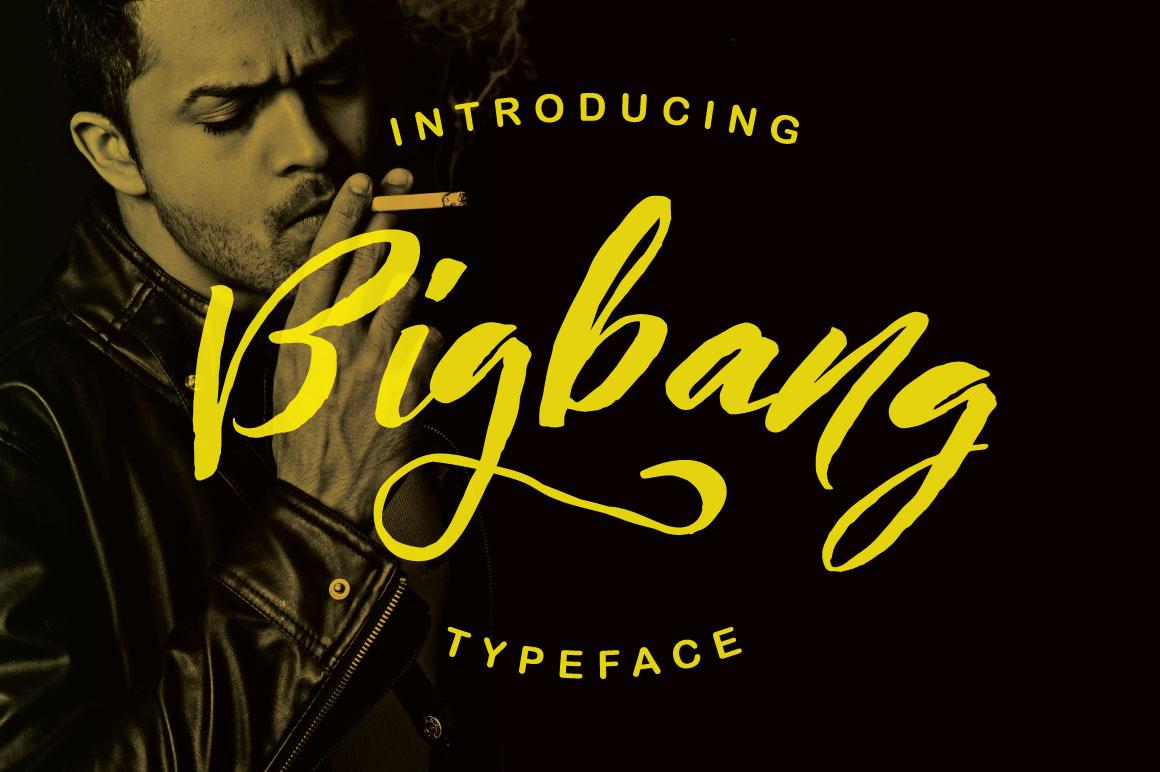 Bigbang Typeface example image 1