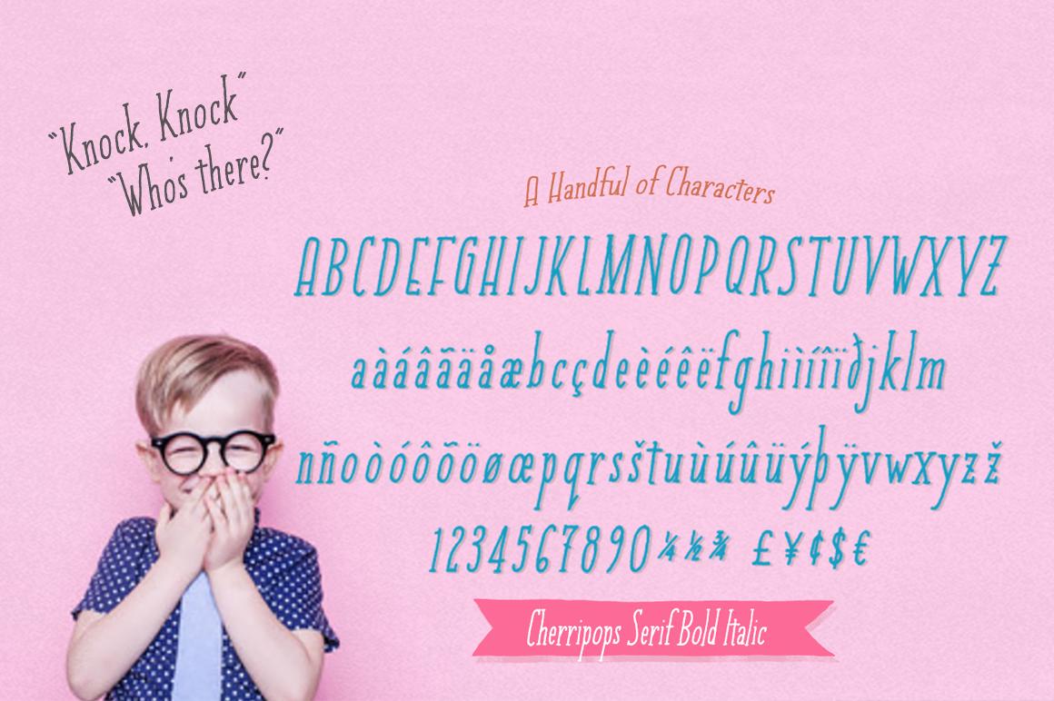 Cherripops Serif & Cherripops Bold Serif & Italics example image 2