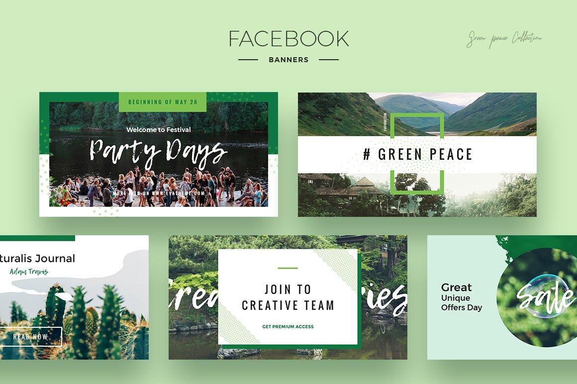 Green Peace Social Media Designs example image 3