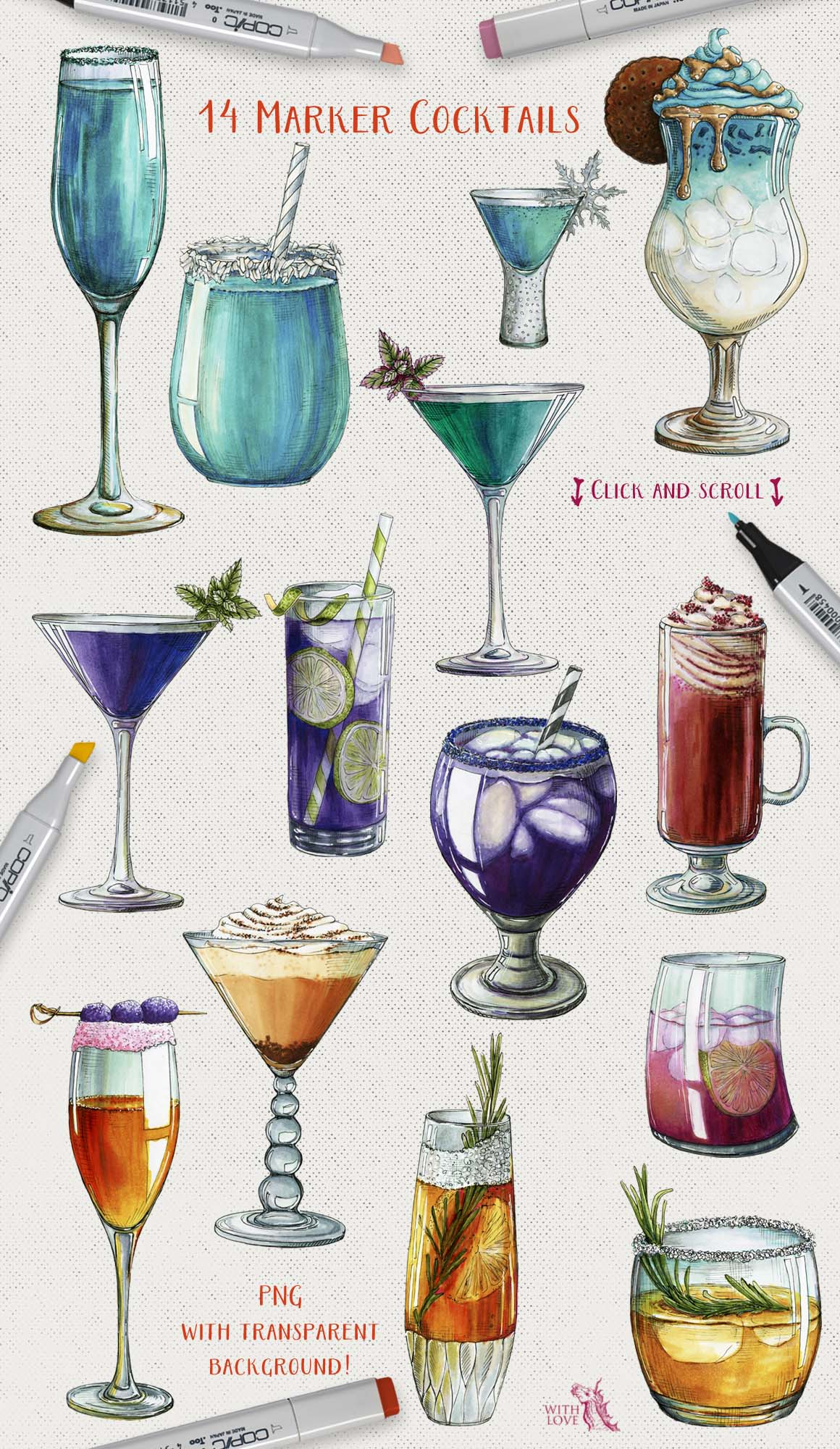 Cocktail Party Marker Bundle example image 2