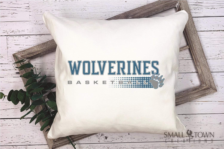 Wolverine, Basketball, Sport, Team, Logo, PRINT, CUT, DESIGN example image 3