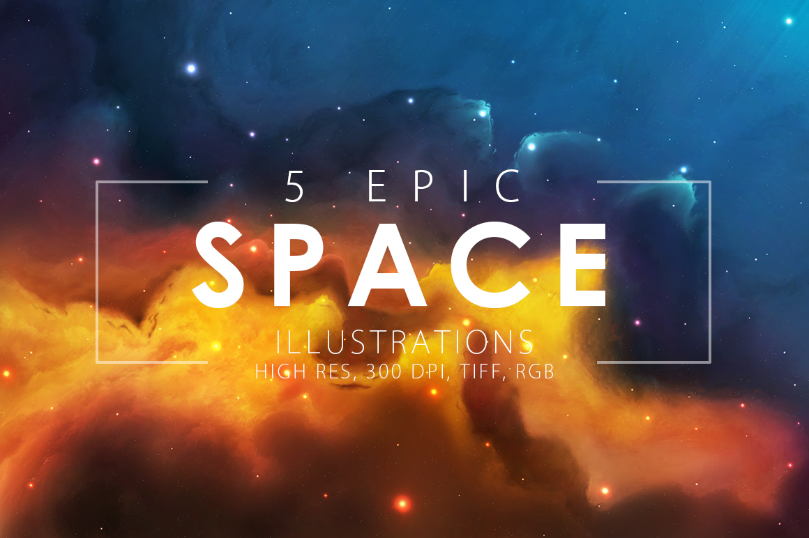 5 Epic Space Illustrations example image 1