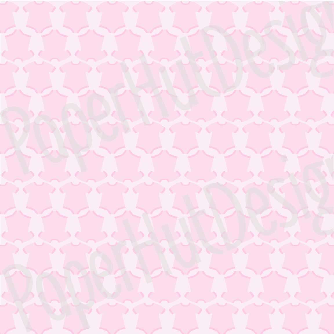 Baby Girl Clipart and Digital Papers Set example image 5