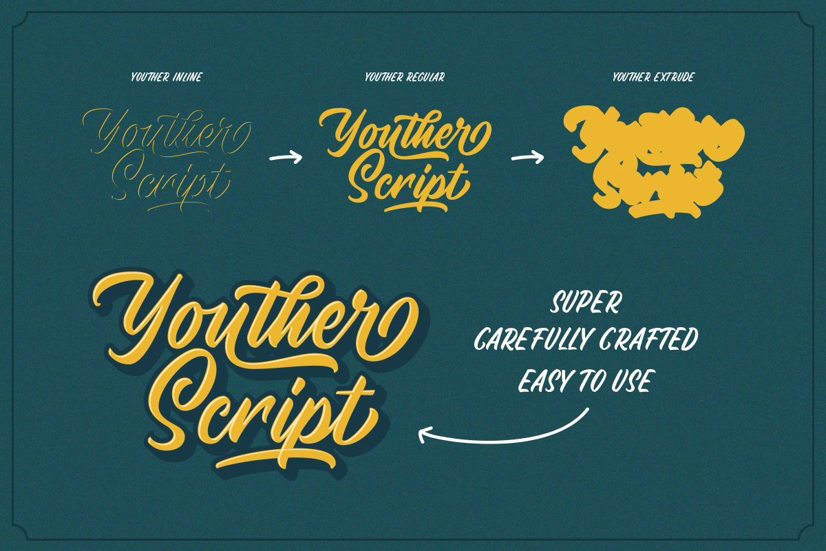Youther Script - Layered Font Duo example image 4