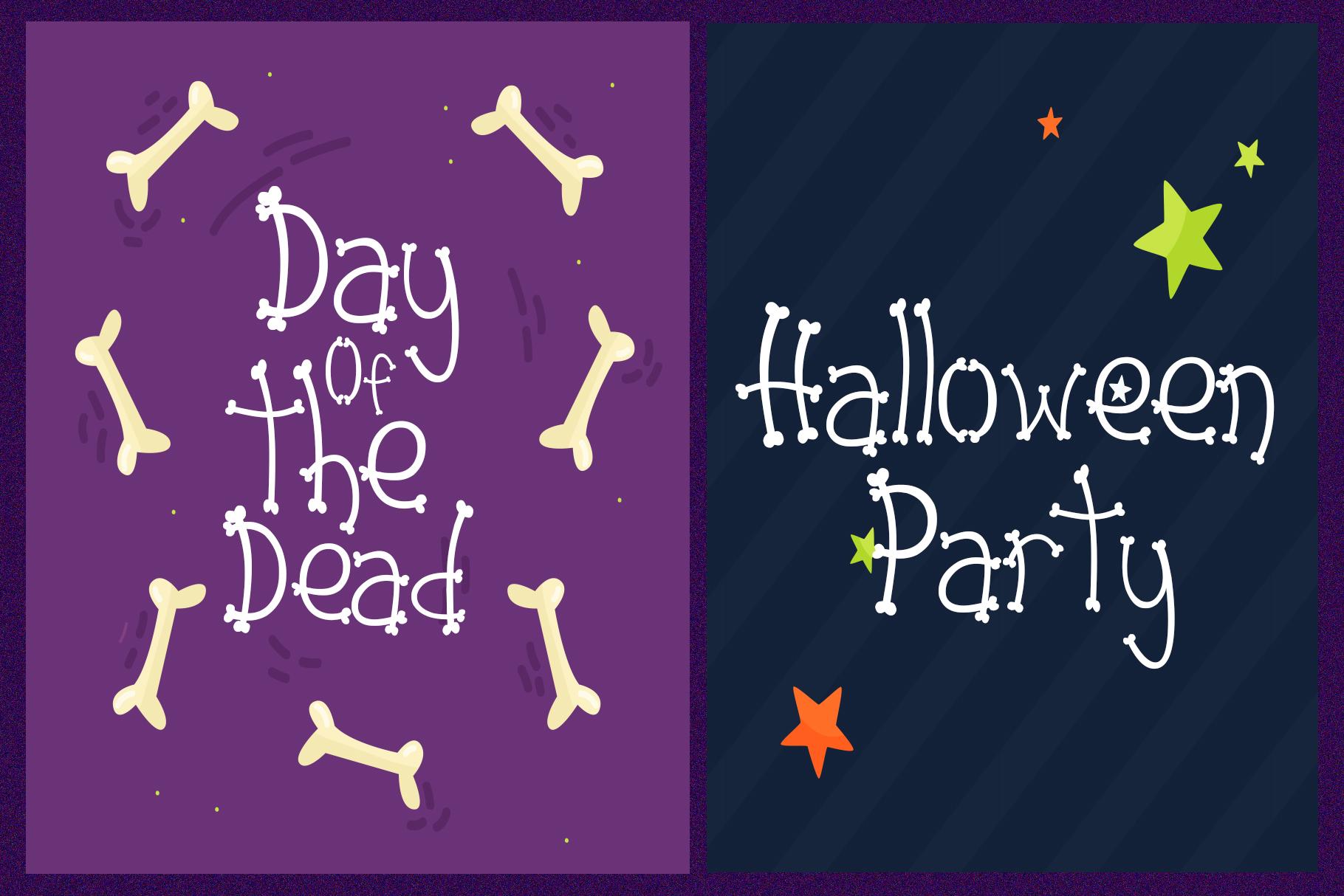 Dead Skull - Bone Skull Font example image 5